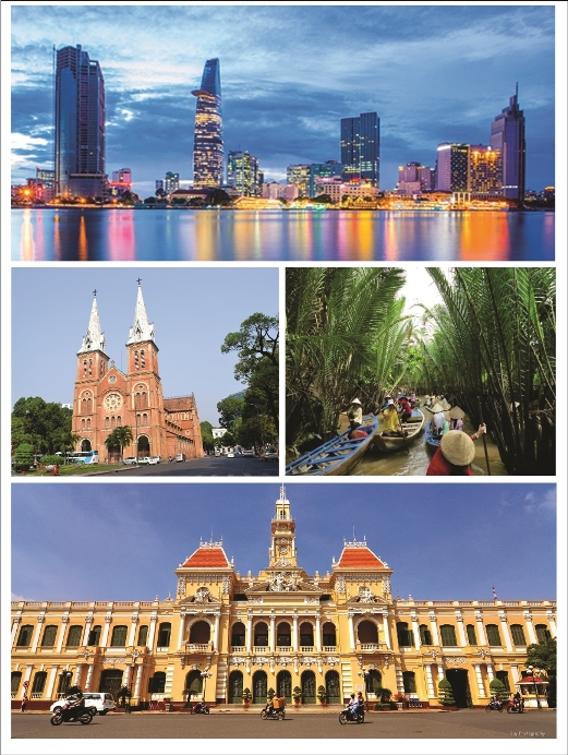 Magnificent of Ho Chi Minh City, Vietnam. Pictures via many soruces