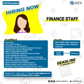 Lowongan Kerja Staff Keuangan